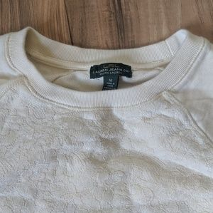 Ralph Lauren Cream Lace Front Pullover
